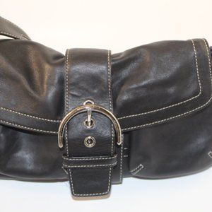 Coach Small Black Leather Hobo